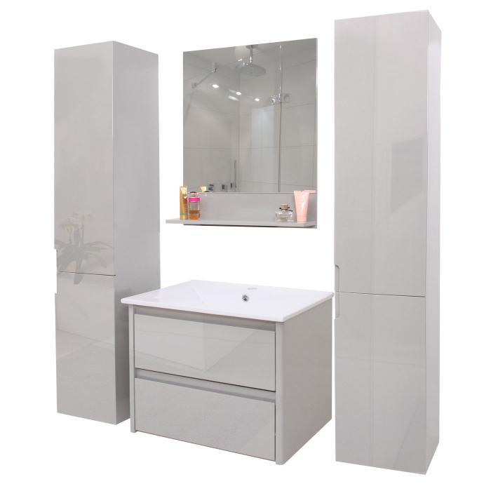 Badezimmerset Hwc B19 Waschtisch Wandspiegel 2x Hängeschrank