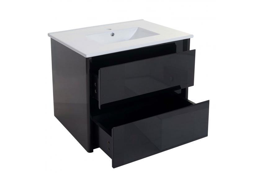 waschbecken unterschrank hwc b19 waschbecken waschtisch badezimmer hochglanz 50x80cm schwarz. Black Bedroom Furniture Sets. Home Design Ideas