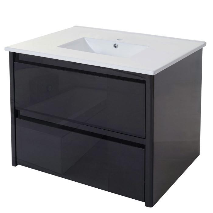 Waschbecken unterschrank hwc b19 waschbecken waschtisch for Badezimmer garnituren