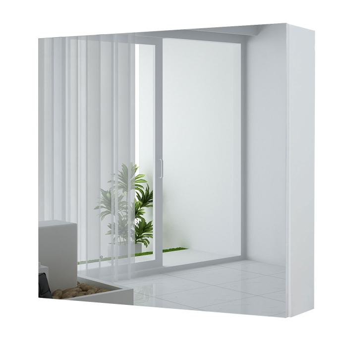 spiegelschrank hwc c11 wandspiegel badspiegel badezimmer aufklappbar hochglanz 58x60cm wei. Black Bedroom Furniture Sets. Home Design Ideas