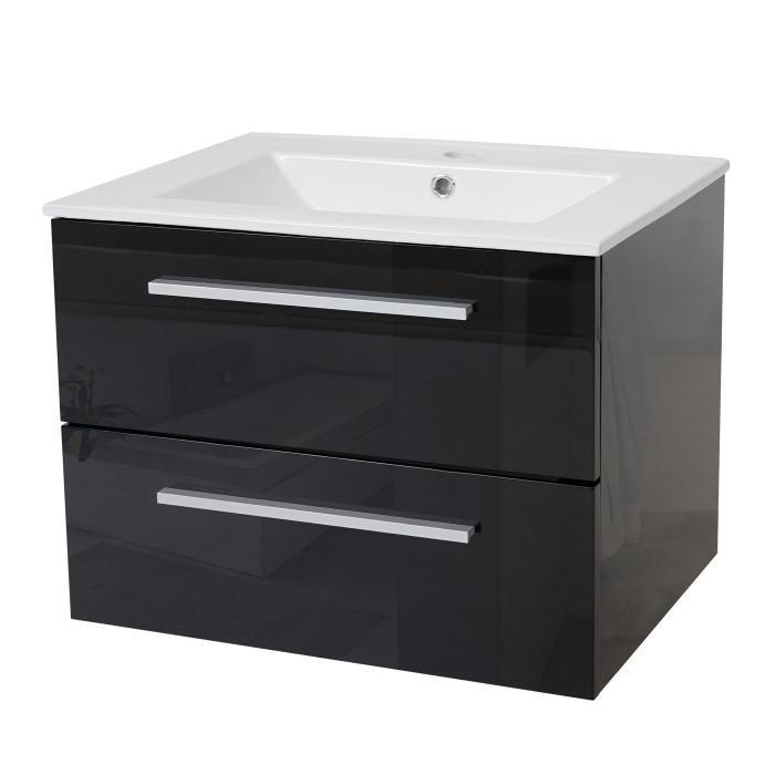 waschbecken unterschrank hwc c11 waschbecken waschtisch badezimmer hochglanz 48x61cm schwarz. Black Bedroom Furniture Sets. Home Design Ideas