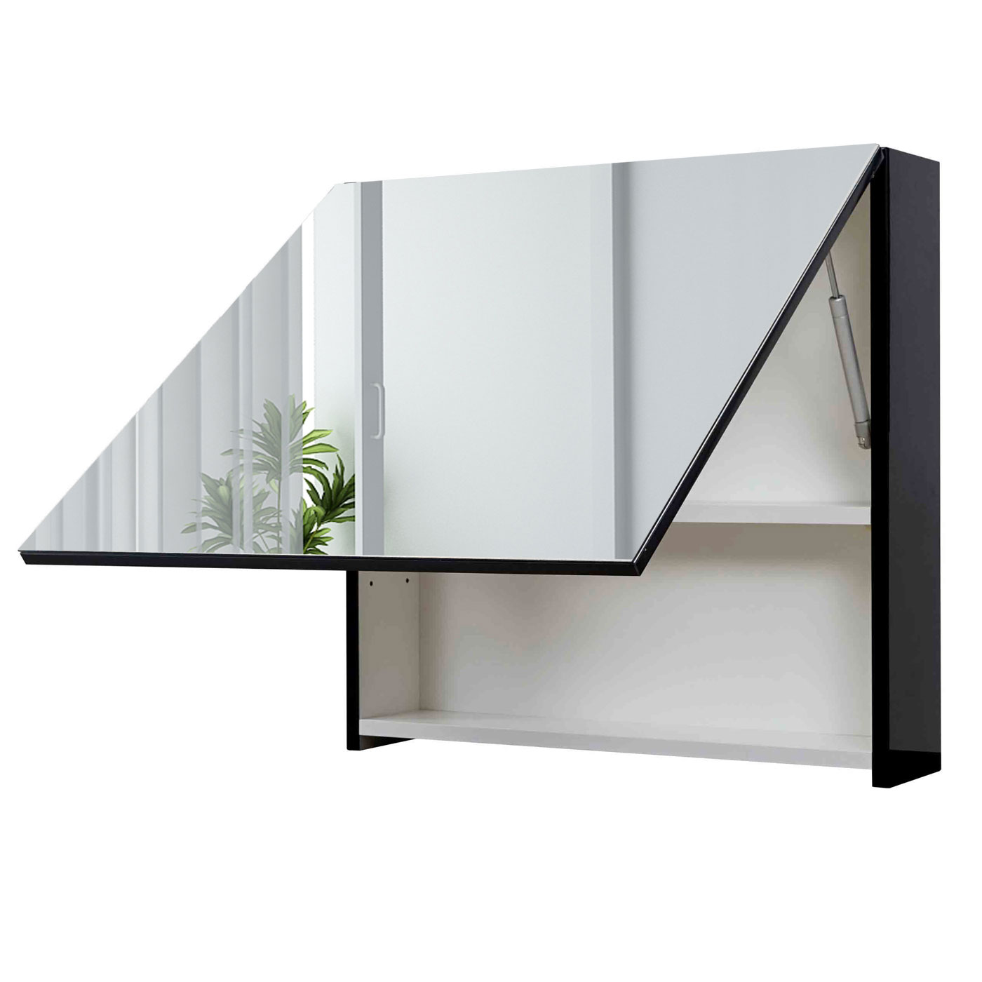 spiegelschrank hwc c11 wandspiegel badspiegel badezimmer aufklappbar hochglanz ebay. Black Bedroom Furniture Sets. Home Design Ideas