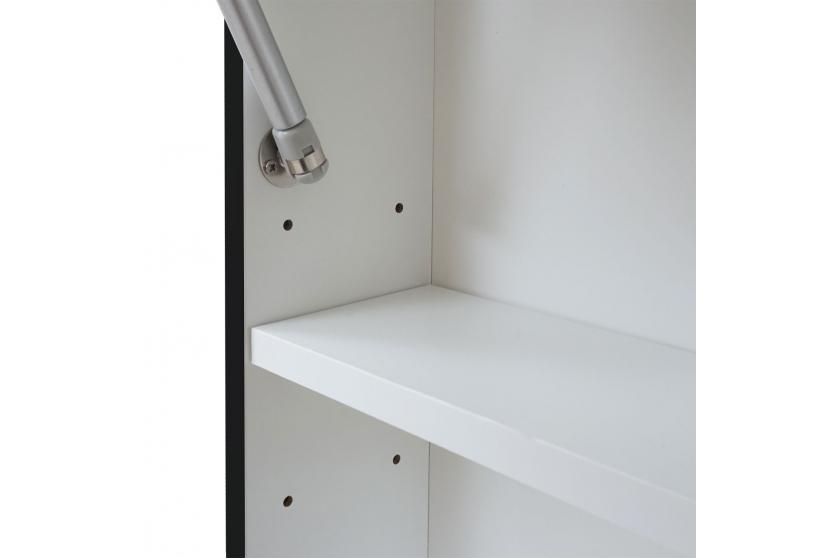 badezimmerset hwc c11 waschtisch spiegelschrank h ngeschrank hochglanz schwarz. Black Bedroom Furniture Sets. Home Design Ideas