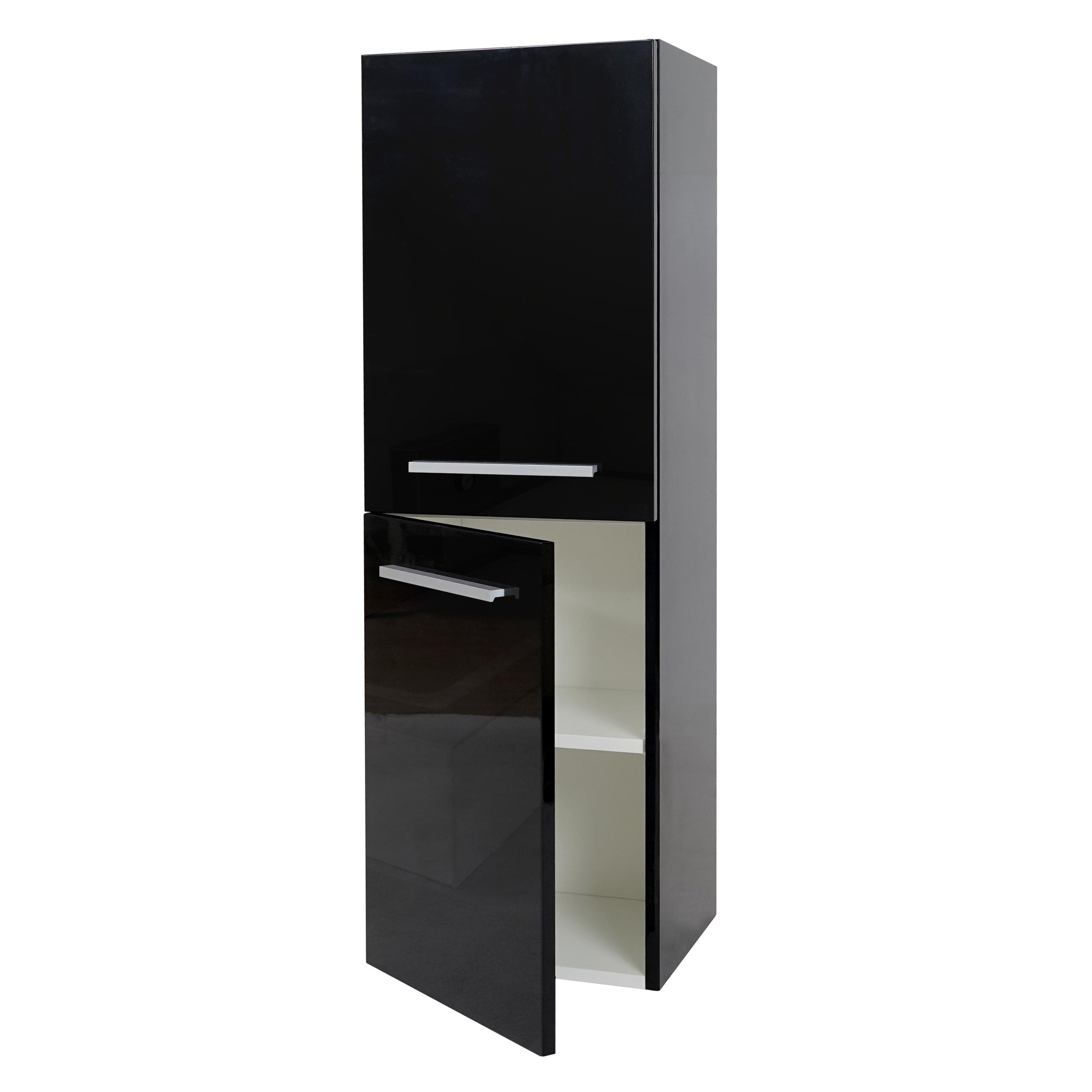 h ngeschrank hwc c11 midischrank badschrank badezimmer hochglanz 110x35cm ebay. Black Bedroom Furniture Sets. Home Design Ideas