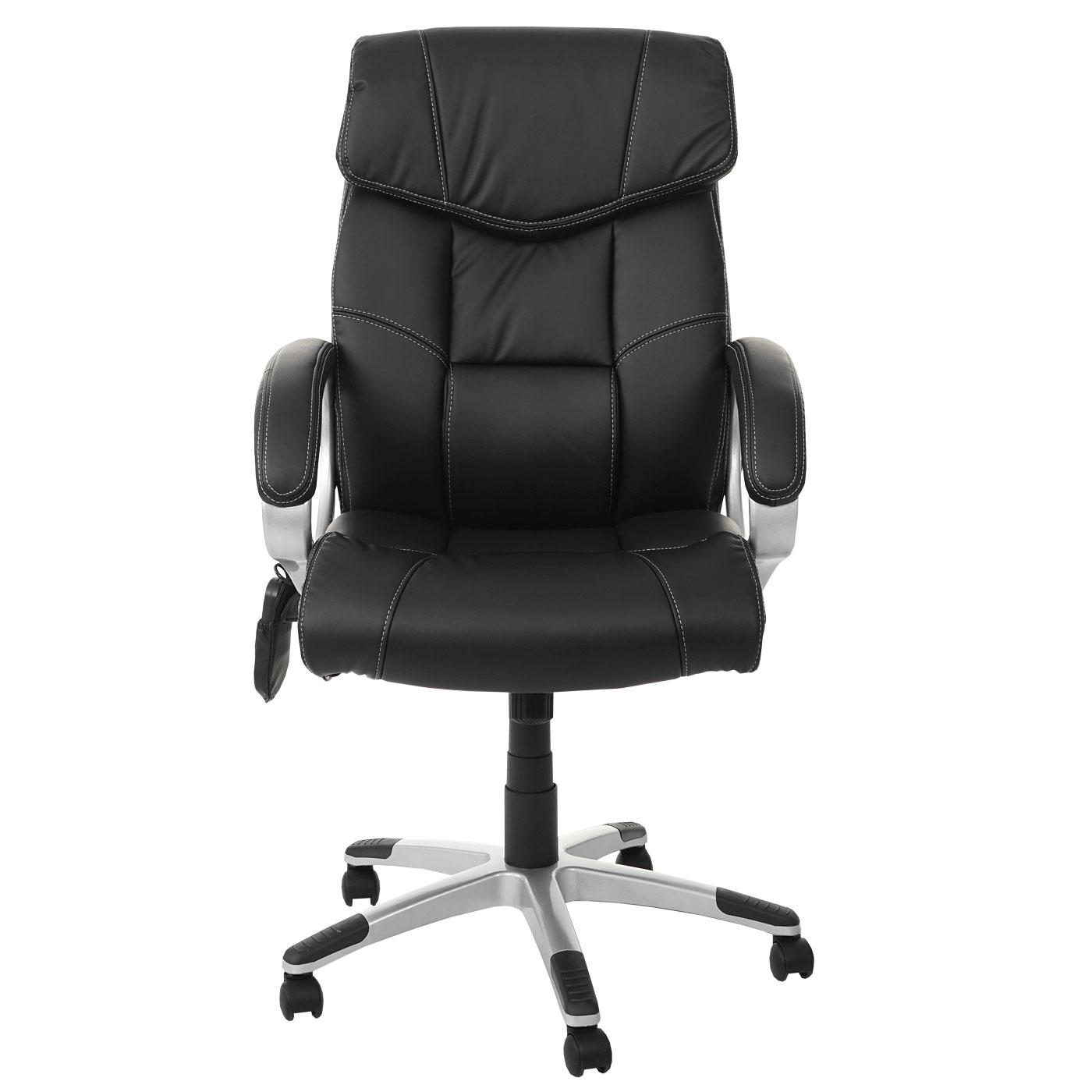 massage b rostuhl hwc a71 drehstuhl chefsessel heizfunktion massagefunktion kunstleder schwarz. Black Bedroom Furniture Sets. Home Design Ideas