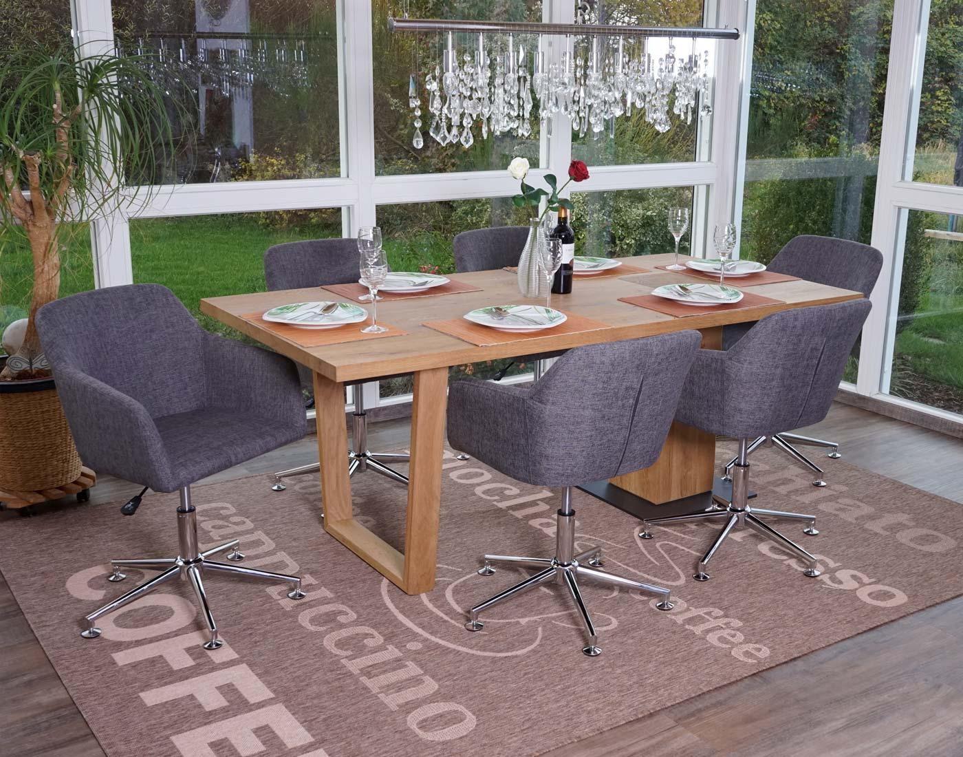 6x esszimmerstuhl hwc a74 drehstuhl loungesessel. Black Bedroom Furniture Sets. Home Design Ideas