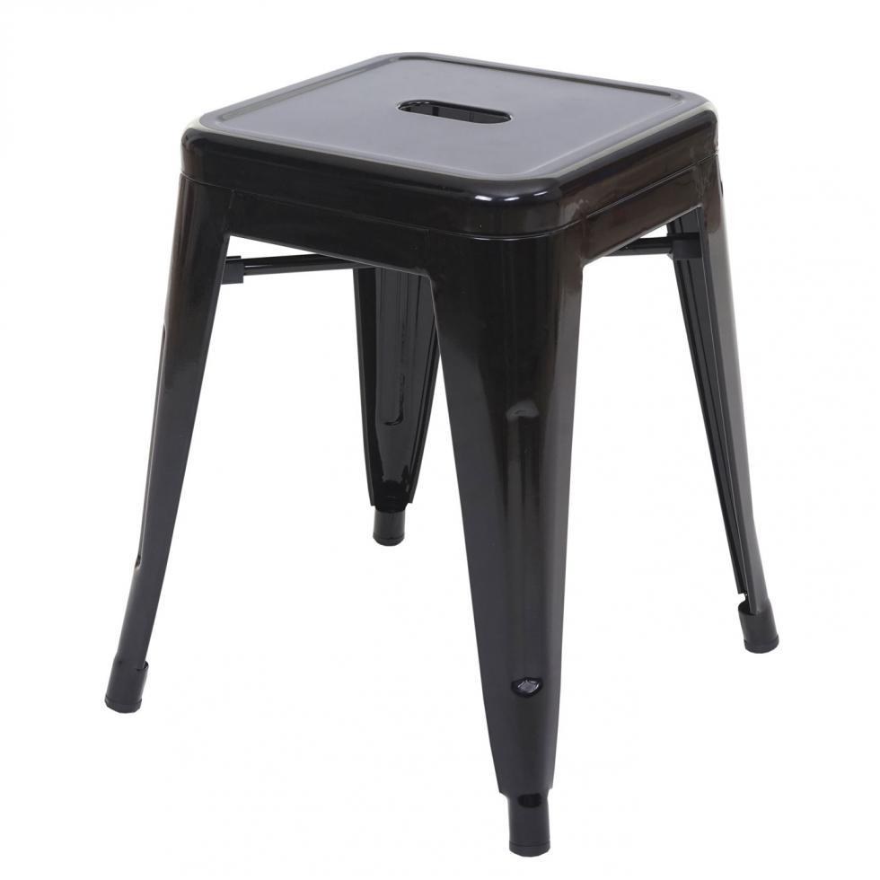 hocker mcw a73 metallhocker sitzhocker metall industriedesign stapelbar schwarz 4057651168463. Black Bedroom Furniture Sets. Home Design Ideas