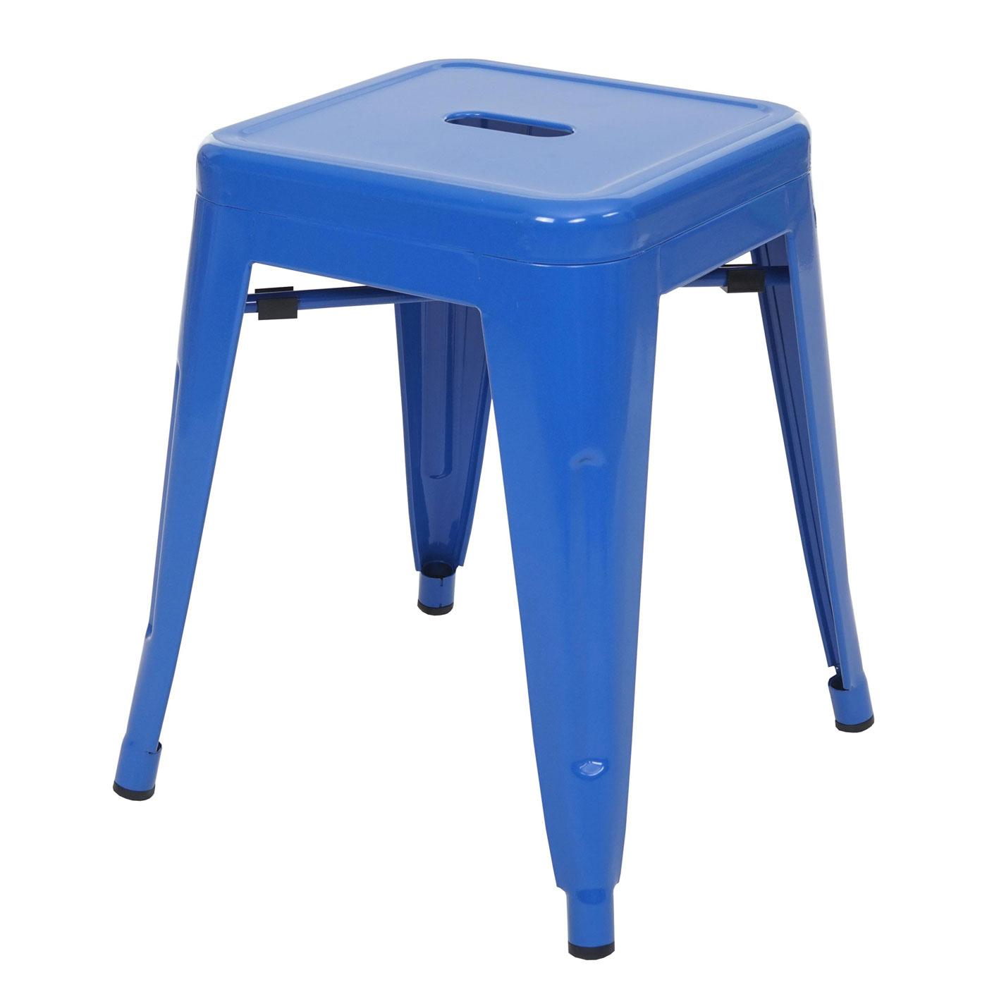 Hocker Hwc A73 Metallhocker Sitzhocker Metall Industriedesign Stapelbar Blau