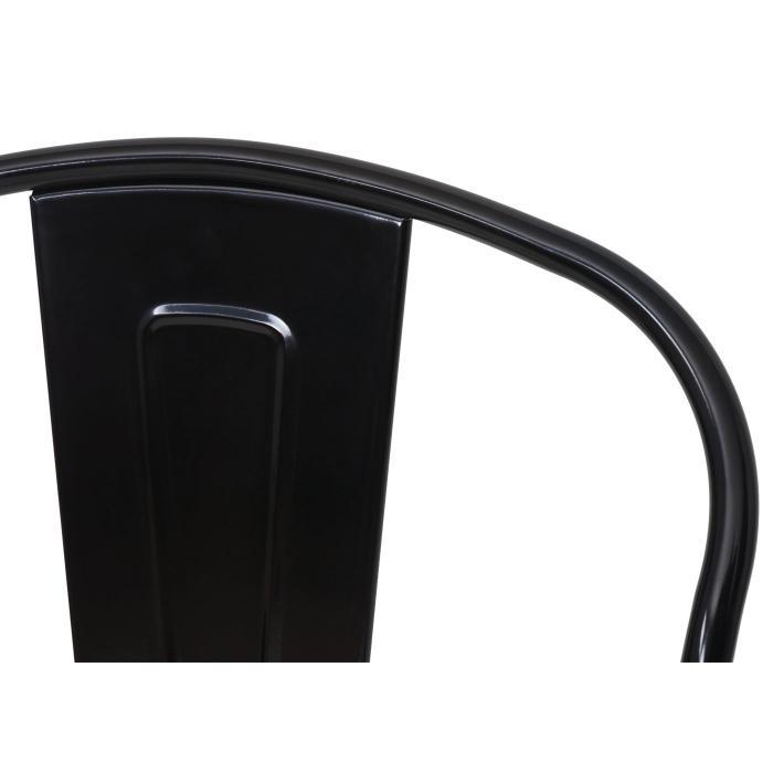Barhocker hwc a73 barstuhl tresenhocker mit lehne metall for Barhocker mit lehne schwarz