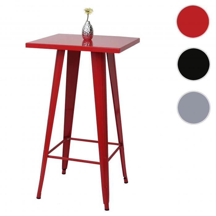 stehtisch hwc a73 bistrotisch bartisch metall industriedesign 105x60x60cm rot. Black Bedroom Furniture Sets. Home Design Ideas