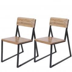 2x esszimmerstuhl hwc a88 lehnstuhl kufenstuhl ulmenholz metall industriedesign hell