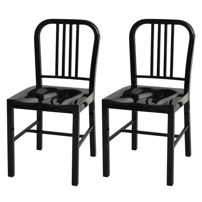 2x esszimmerstuhl hwc a73 stuhl lehnstuhl metall. Black Bedroom Furniture Sets. Home Design Ideas
