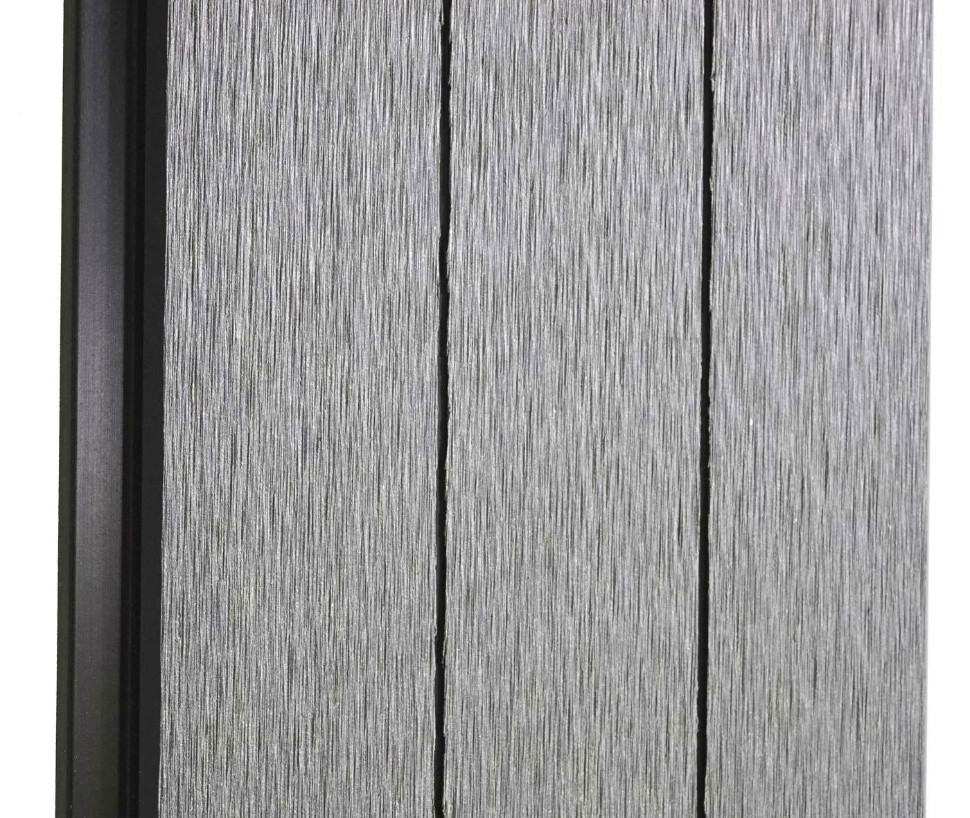 wpc sichtschutz savoie windschutz zaun alu pfosten erweiterungselement schr g 0 95m grau. Black Bedroom Furniture Sets. Home Design Ideas