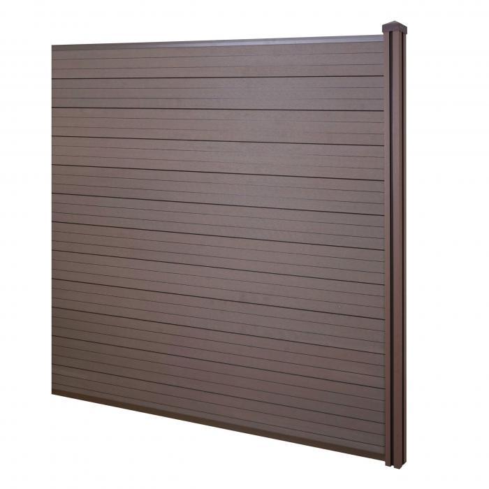 Wpc Sichtschutz Sarthe Windschutz Zaun Wpc Pfosten