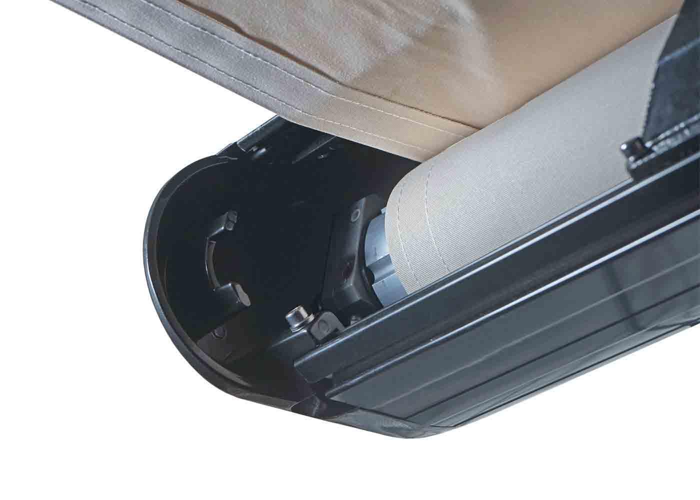 elektrische vollkassetten markise t124 4x3m ausfahrbarer volant polyester creme anthrazit. Black Bedroom Furniture Sets. Home Design Ideas