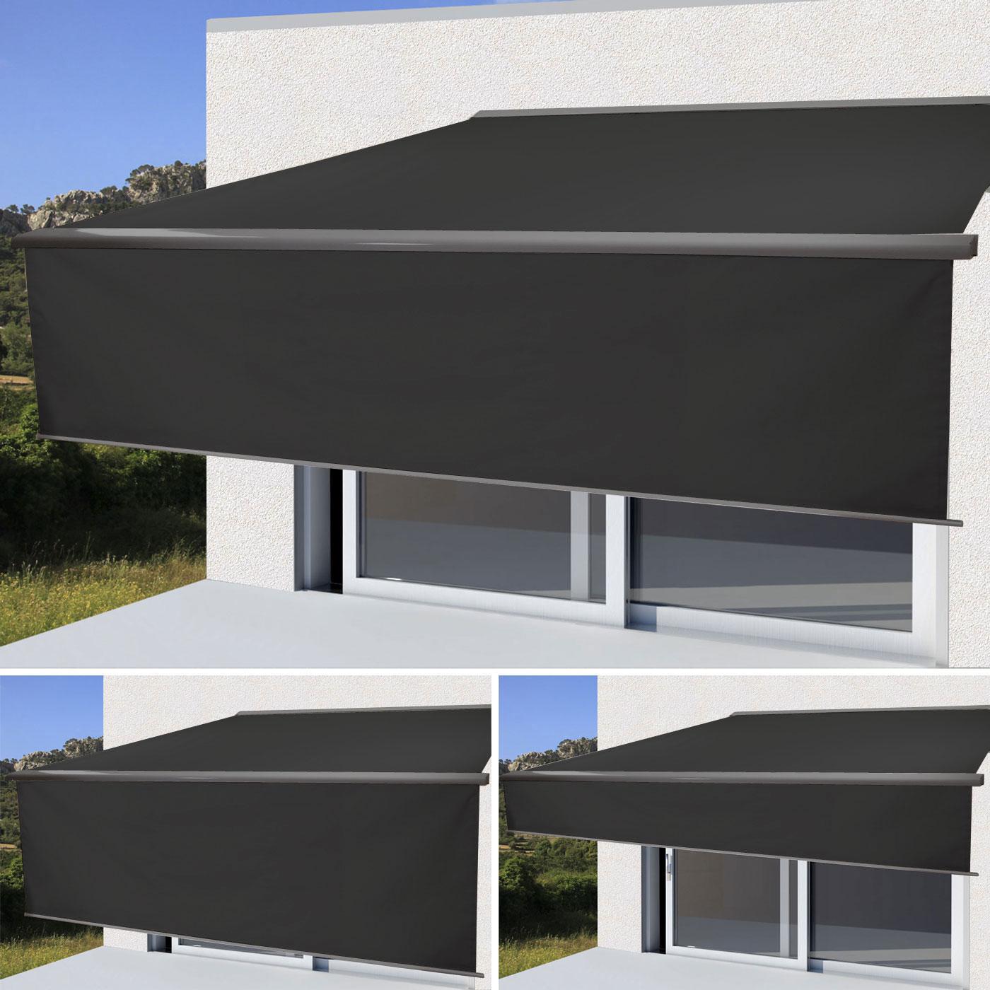 elektrische markise t124 4x3m ausfahrbarer volant. Black Bedroom Furniture Sets. Home Design Ideas