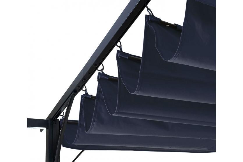 ersatzdach f r pergola 3 5x3 5m hwc c42 schiebedach bezug sonnenschutz blau. Black Bedroom Furniture Sets. Home Design Ideas