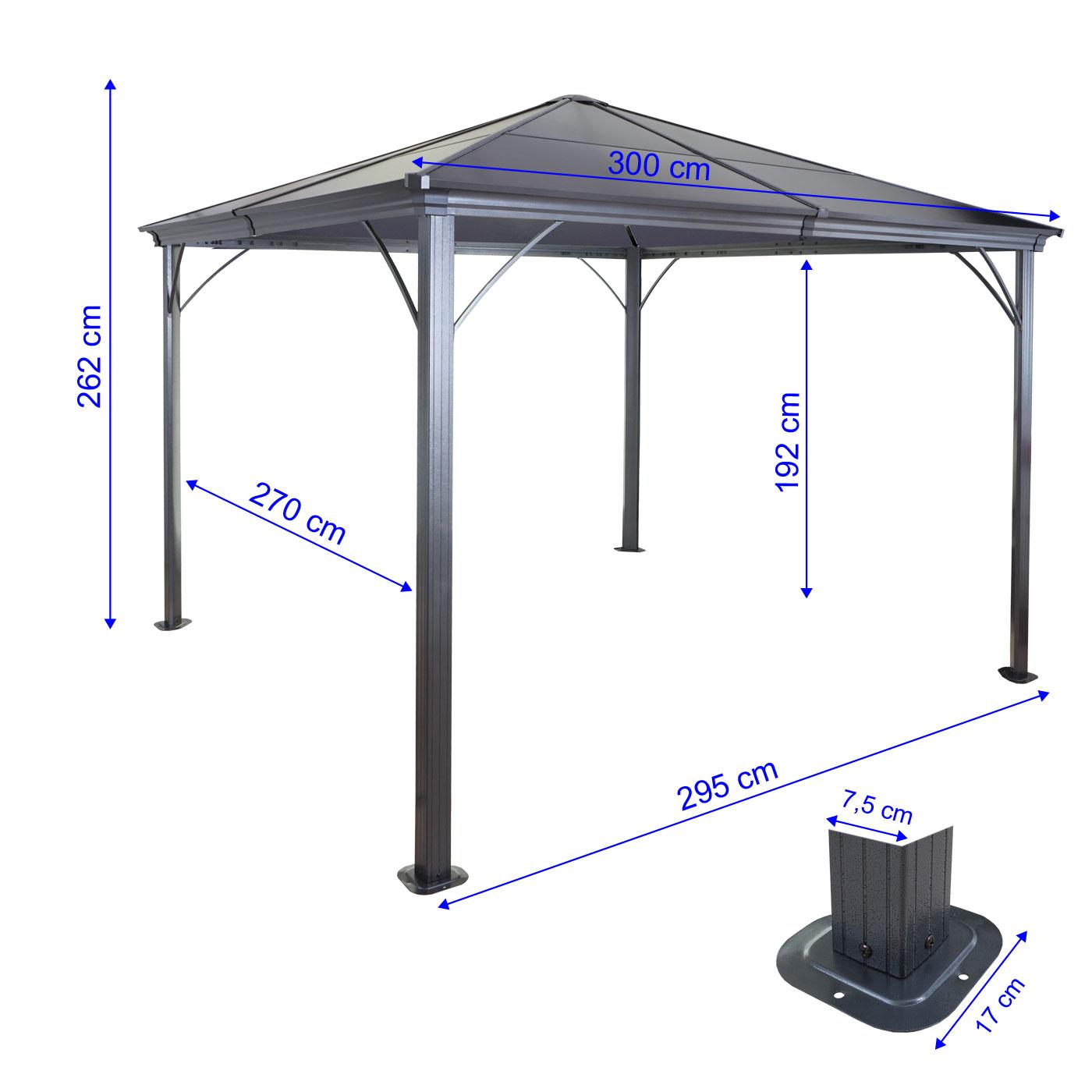 Fabulous Hardtop Pergola MCW-C74, Garten Pavillon, Kunststoff-Dach SA97