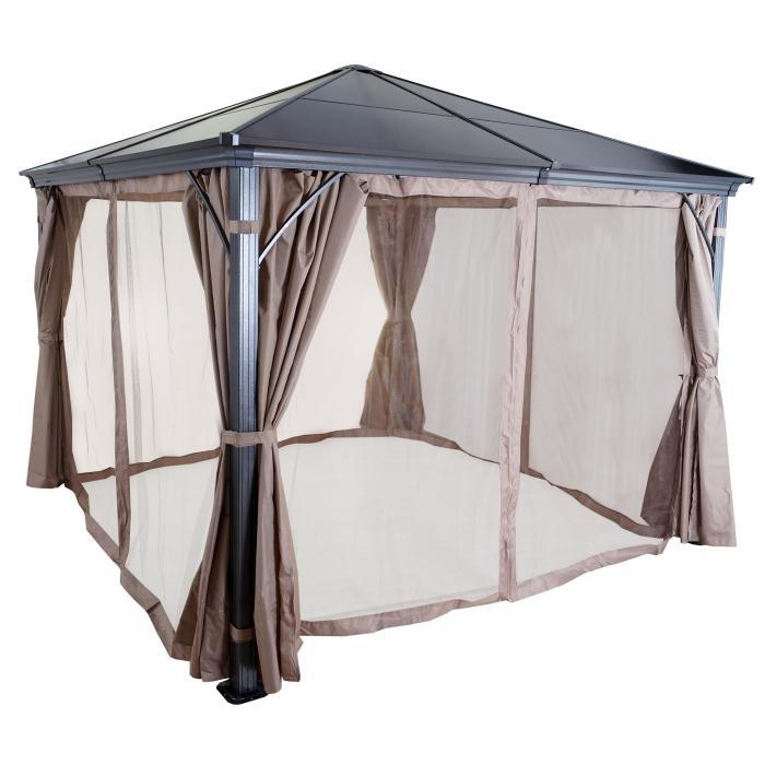 hardtop pergola hwc c74 garten pavillon kunststoff dach. Black Bedroom Furniture Sets. Home Design Ideas
