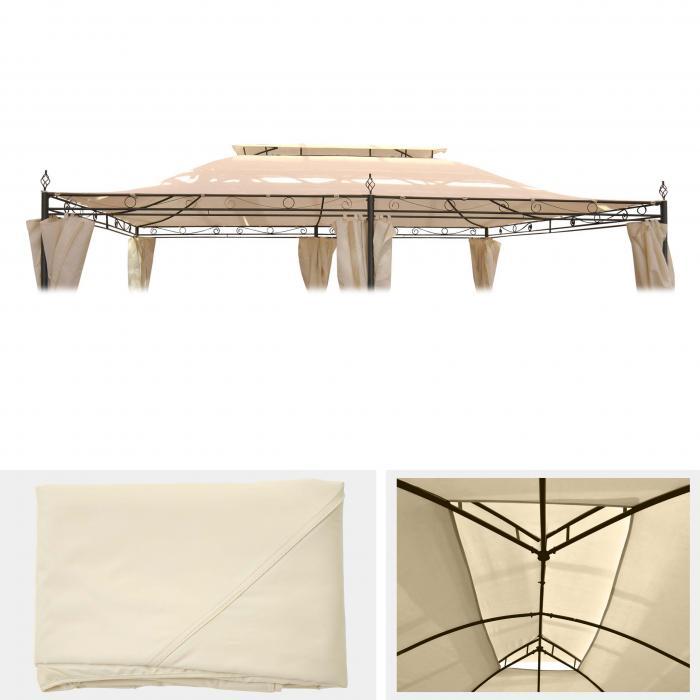 ersatzdach f r pergola mecina 4x3m dach bezug. Black Bedroom Furniture Sets. Home Design Ideas