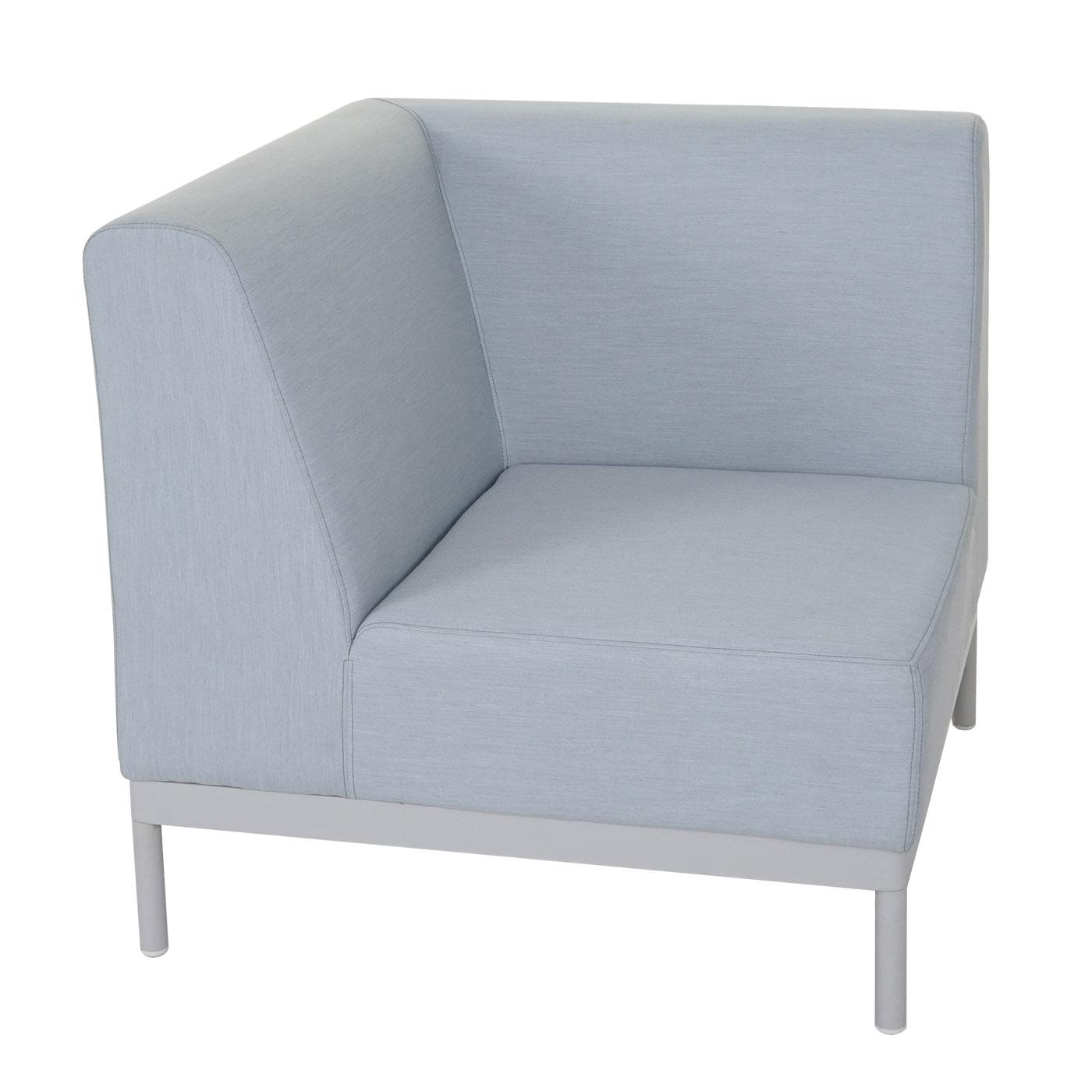 ecksofa hwc c47 sofa loungesofa couch textil indoor wasserabweisend blau mit ablage. Black Bedroom Furniture Sets. Home Design Ideas