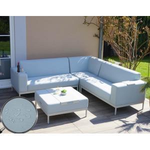 alu garten garnitur hwc c47 sofa outdoor textil blau mit ablage ohne kissen. Black Bedroom Furniture Sets. Home Design Ideas