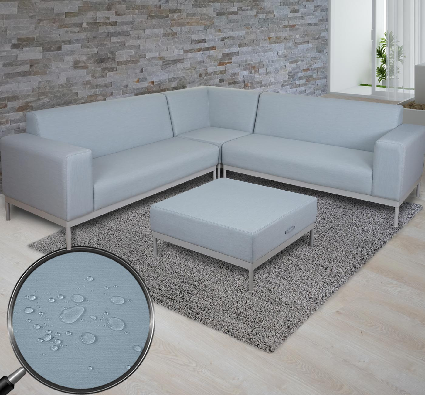 Ecksofa hwc c47 sofa loungesofa couch textil indoor for Ecksofa textil