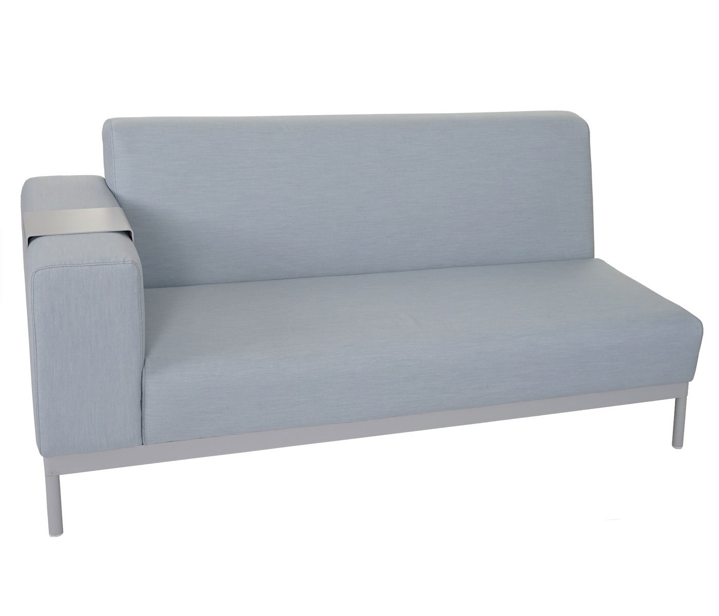 alu garten garnitur hwc c47 sofa outdoor wasserabweisend blau mit ablage ohne kissen. Black Bedroom Furniture Sets. Home Design Ideas