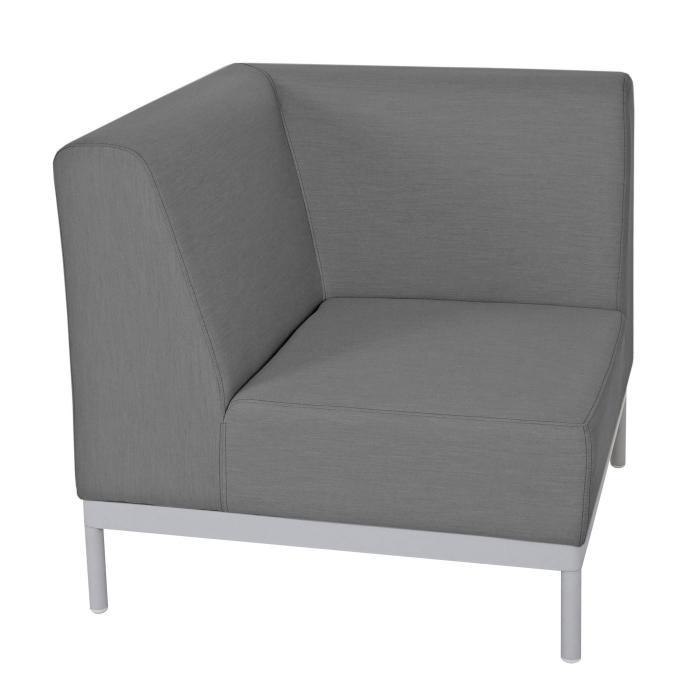 Alu garten garnitur hwc c47 sofa outdoor textil grau for Sofa ohne kissen