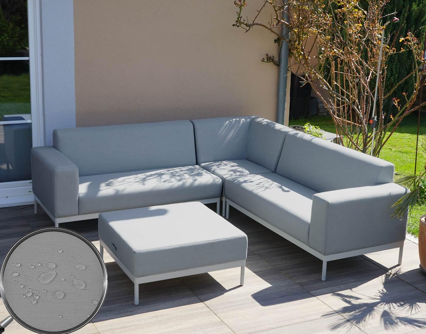 Alu garten garnitur hwc c47 sofa outdoor stoff textil for Sofa ohne kissen