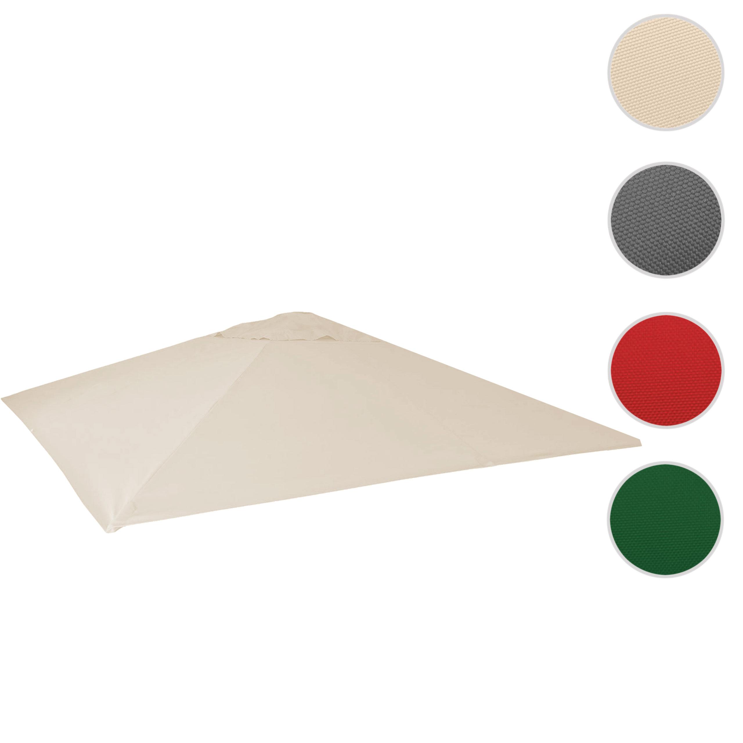 Mendler Bezug für Gastronomie Sonnenschirm HWC-D20, Sonnenschirmbezug Ersatzbezug, 5x5m (Ř7,2m) Polyester ~ 58589