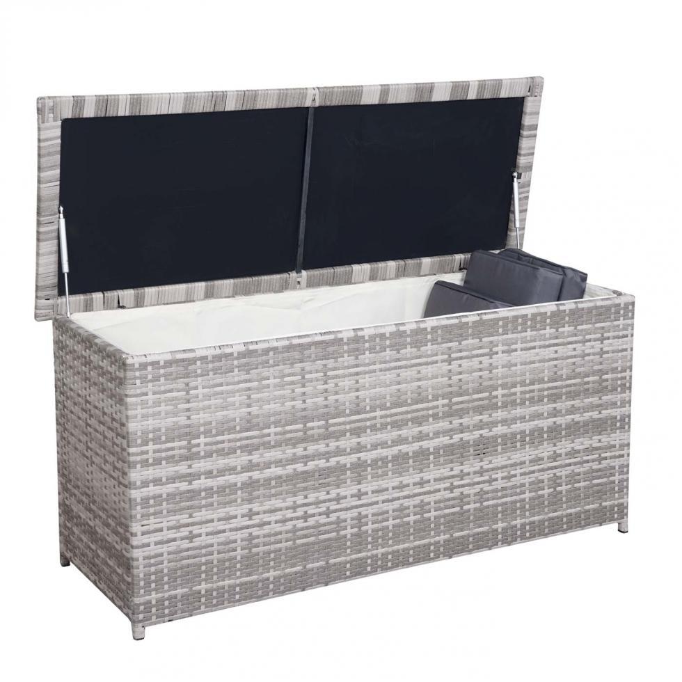 Gut bekannt Poly-Rattan Kissenbox MCW-D43, Auflagenbox Garten, 63x135x52cm EU16
