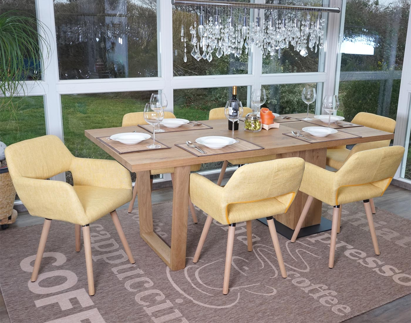 Set 6x sedie sala da pranzo hwc a50 ii design retro legno - Sedie sala da pranzo ...