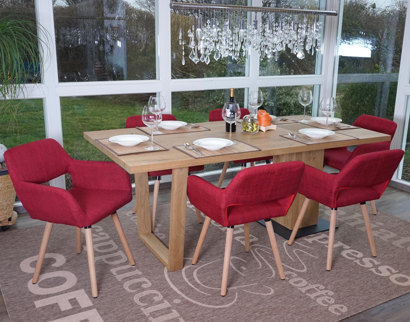 Set 6x sedie sala da pranzo hwc a50 ii design retro legno for Sedie sala pranzo legno