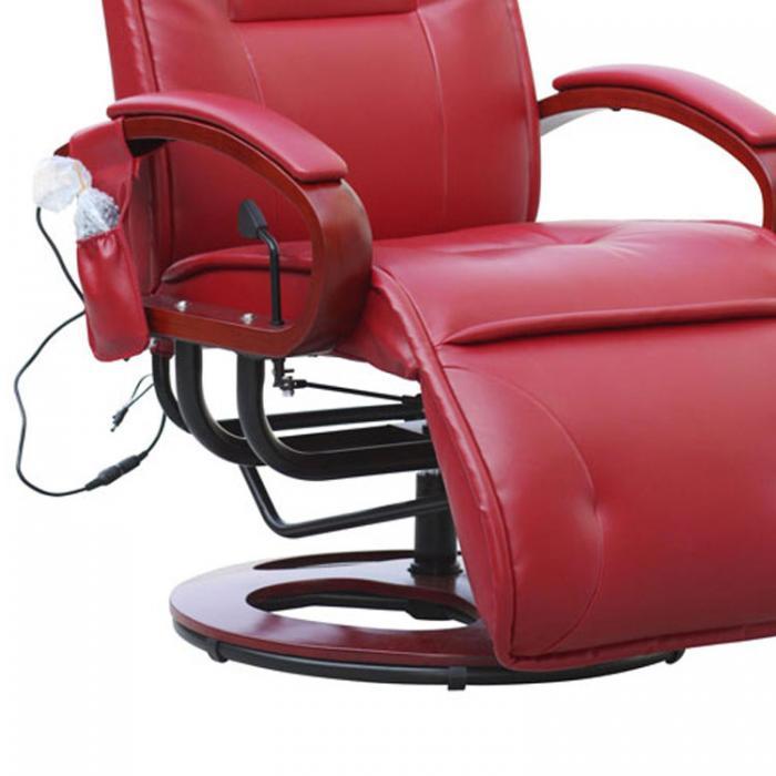 relaxliege arles ii relaxsessel massagesessel mit massage leder rot. Black Bedroom Furniture Sets. Home Design Ideas
