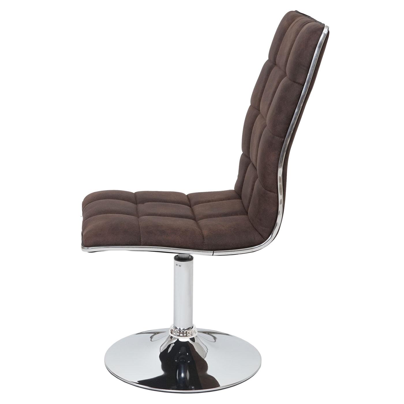 6x esszimmerstuhl mcw c41 h henverstellbar drehbar textil vintage dunkelbraun ebay - Esszimmerstuhl hohenverstellbar ...