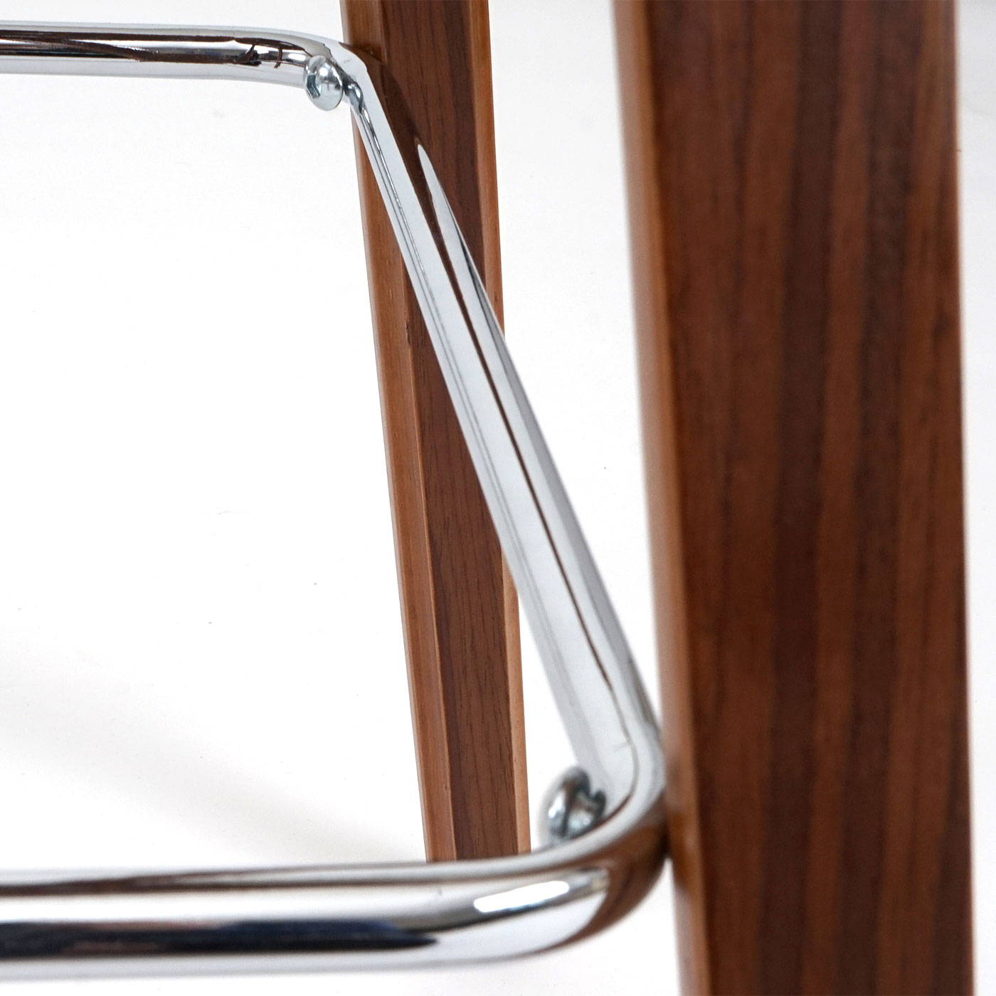 2x tabouret de bar hwc c32 chaise de comptoir style r tro optique noix blanc ebay. Black Bedroom Furniture Sets. Home Design Ideas