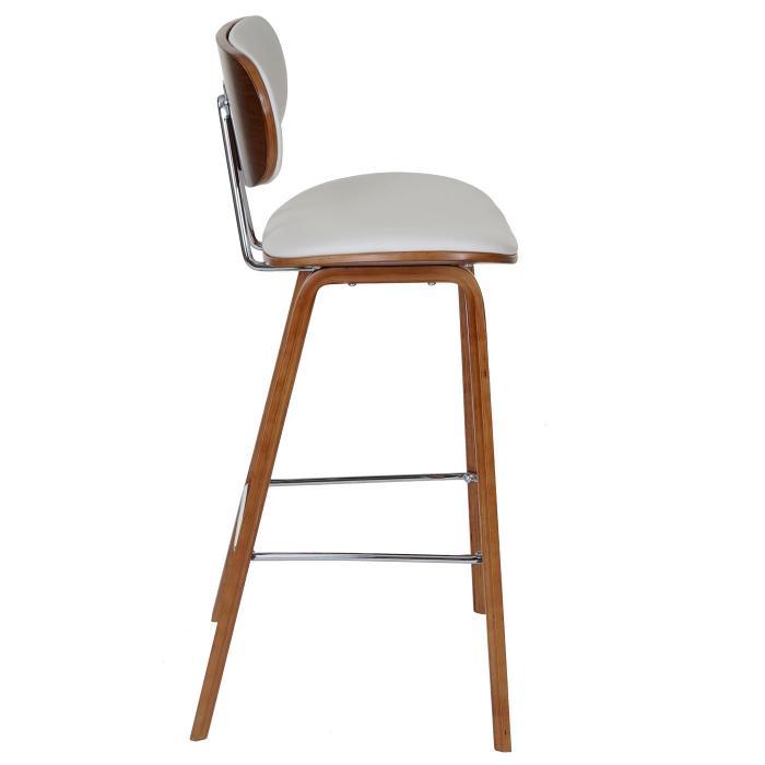 2x barhocker hwc c32 barstuhl tresenhocker retro design holz bugholz walnuss optik wei. Black Bedroom Furniture Sets. Home Design Ideas