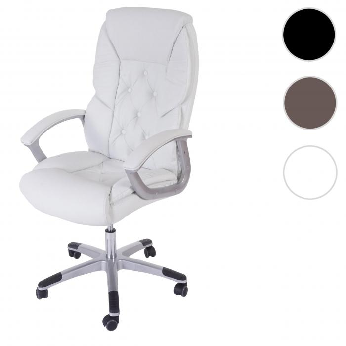 Bürostuhl 150 kg belastbar braun Schreibtischstuhl Drehstuhl Chefsessel stabil