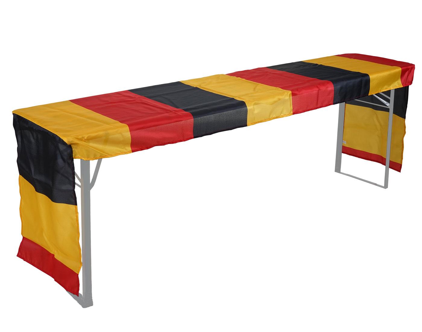 Tischdecke MCW-D19, Biertischhusse Tischhusse, Deutschland WM EM 360x73cm