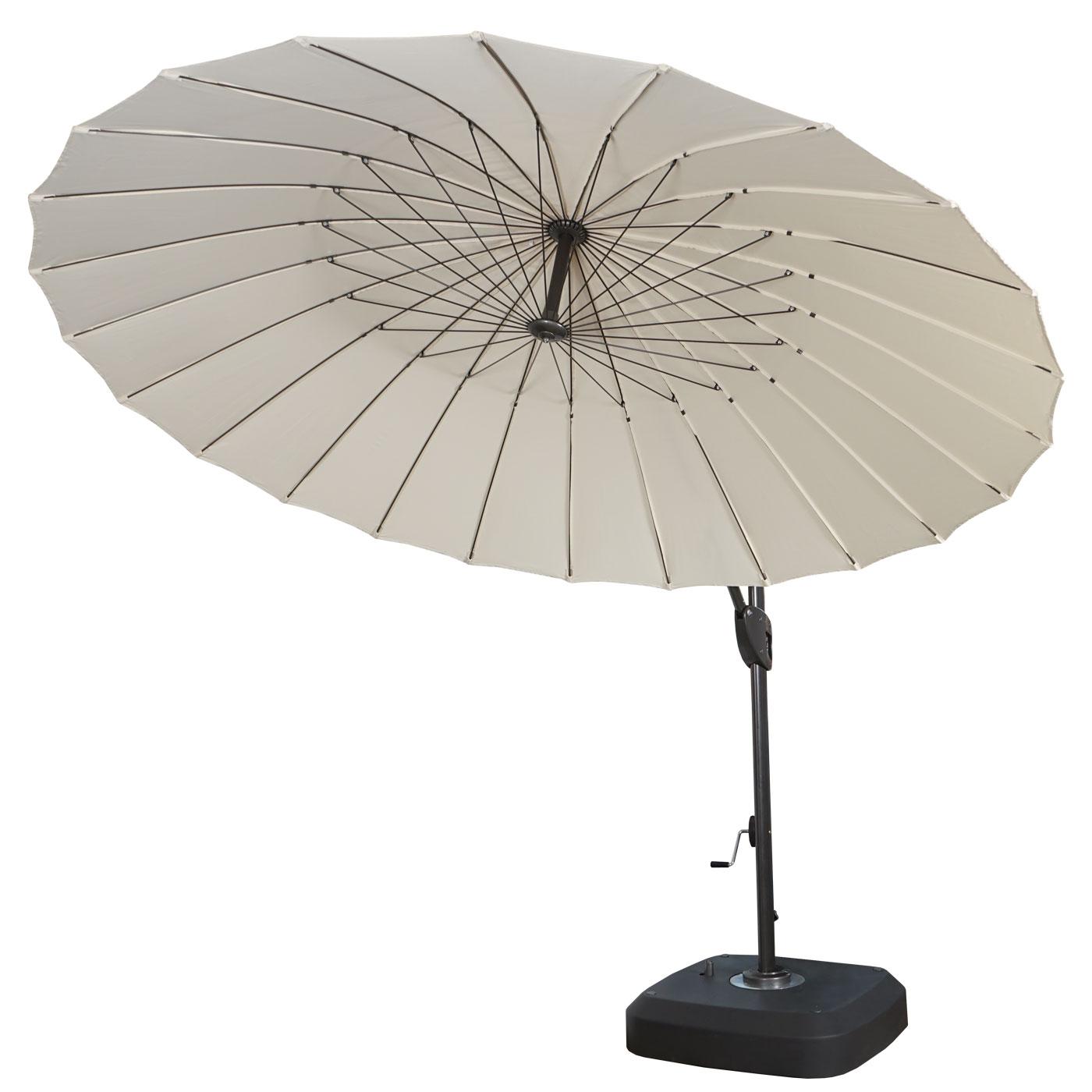 ampelschirm sonnenschirm mit st nder schutzh lle drehbar rollbar 2 8m polyester alu stahl. Black Bedroom Furniture Sets. Home Design Ideas