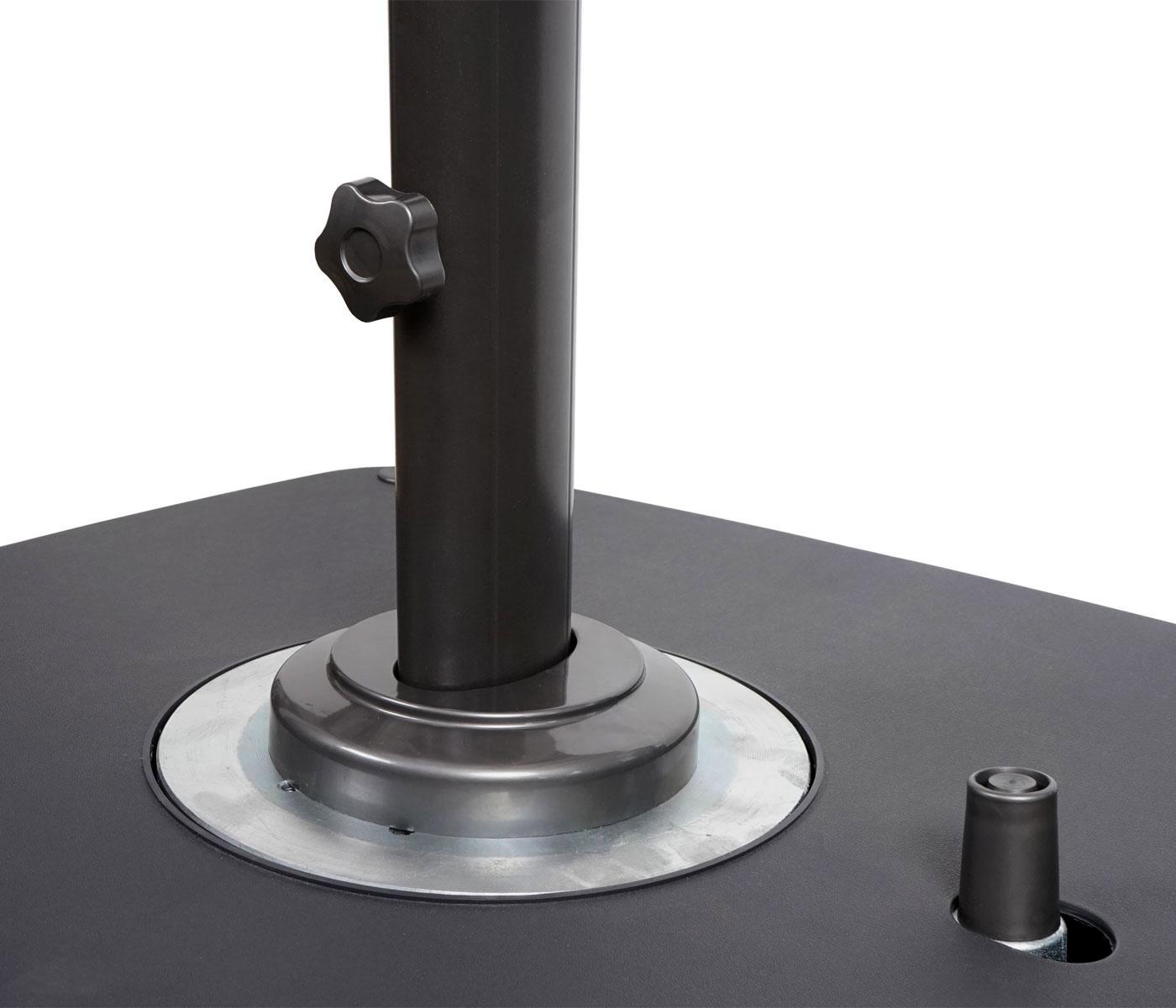 ampelschirm sonnenschirm mit st nder schutzh lle drehbar. Black Bedroom Furniture Sets. Home Design Ideas