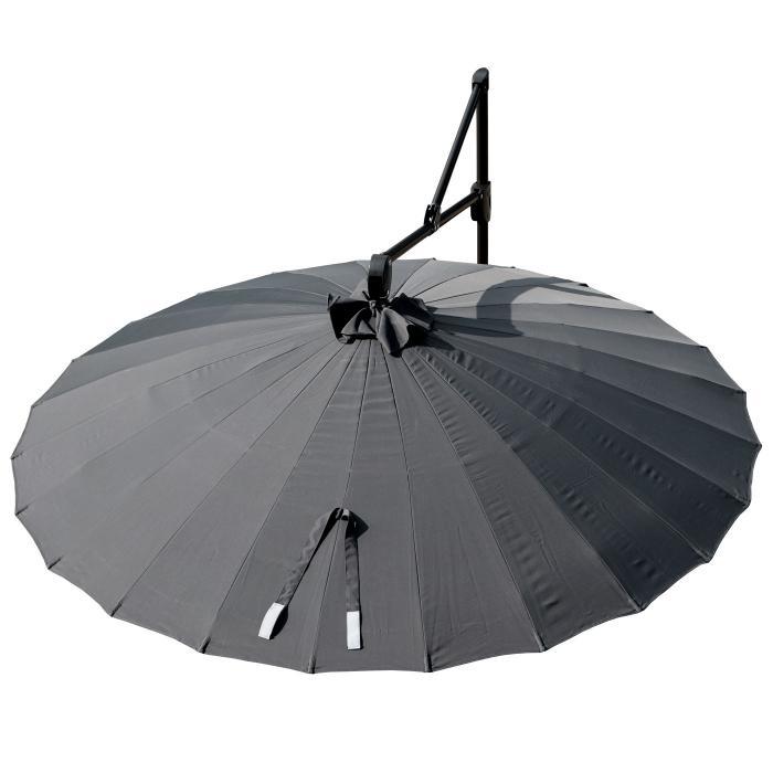 ampelschirm hwc a34 sonnenschirm mit st nder und schutzh lle drehbar rollbar 270cm anthrazit. Black Bedroom Furniture Sets. Home Design Ideas