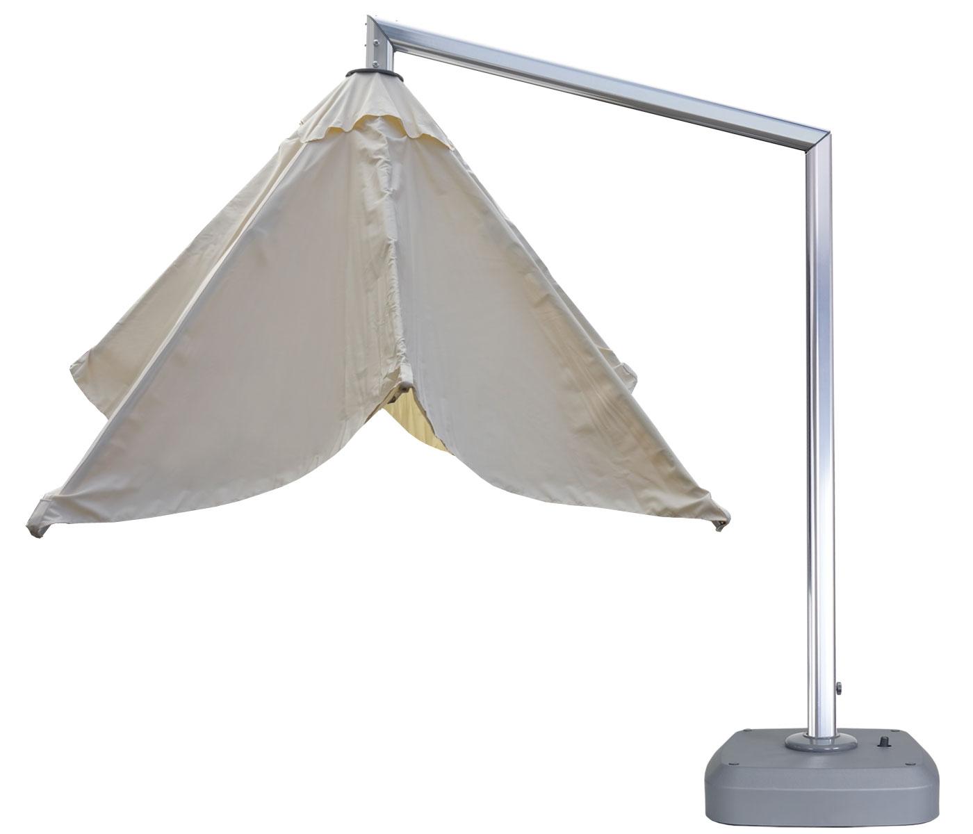 luxus ampelschirm gartenschirm sonnenschirm mit st nder drehbar 3x3m 4 24m polyester alu. Black Bedroom Furniture Sets. Home Design Ideas