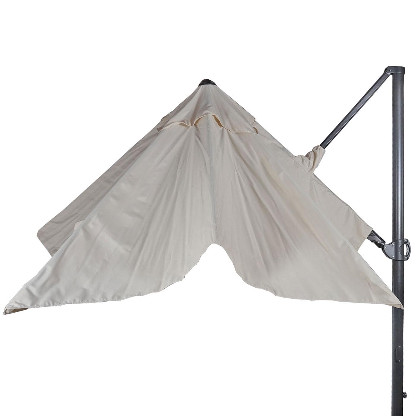 gastronomie ampelschirm 3x3m 4 24m schwenkbar drehbar polyester alu 31kg creme ohne. Black Bedroom Furniture Sets. Home Design Ideas