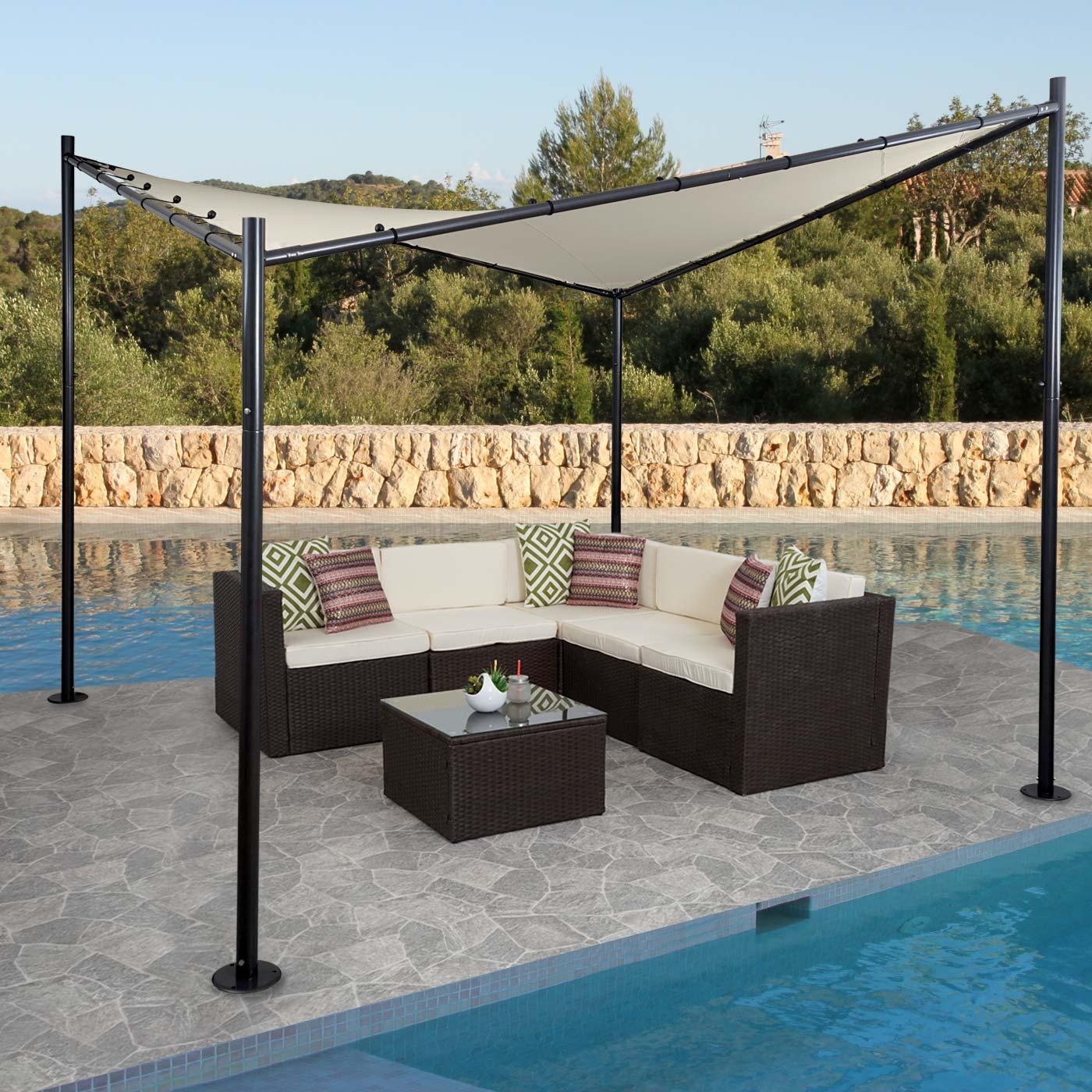 pergola hwc a41 garten pavillon sonnensegel stabiles. Black Bedroom Furniture Sets. Home Design Ideas
