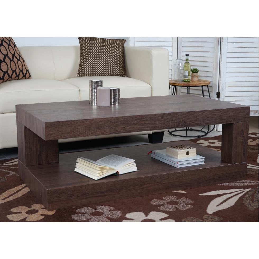 Détails sur Table de Salon HWC-A32, Table Basse, 3D-Struktur 40x110x60cm  Marron Eicheoptik