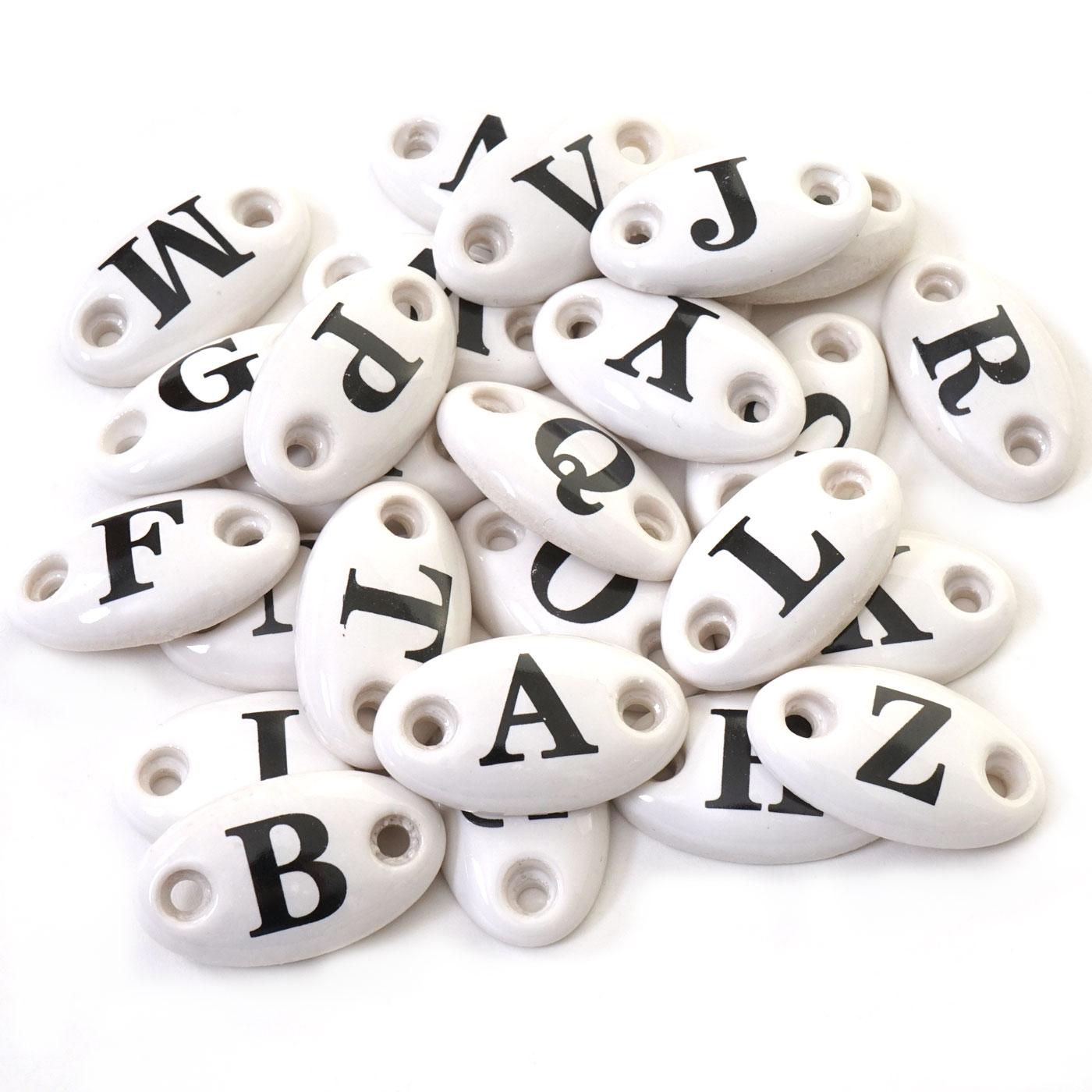 Button A-Z MCW-A43, Buchstaben Letter Schild Deko, Keramik, Zubehör