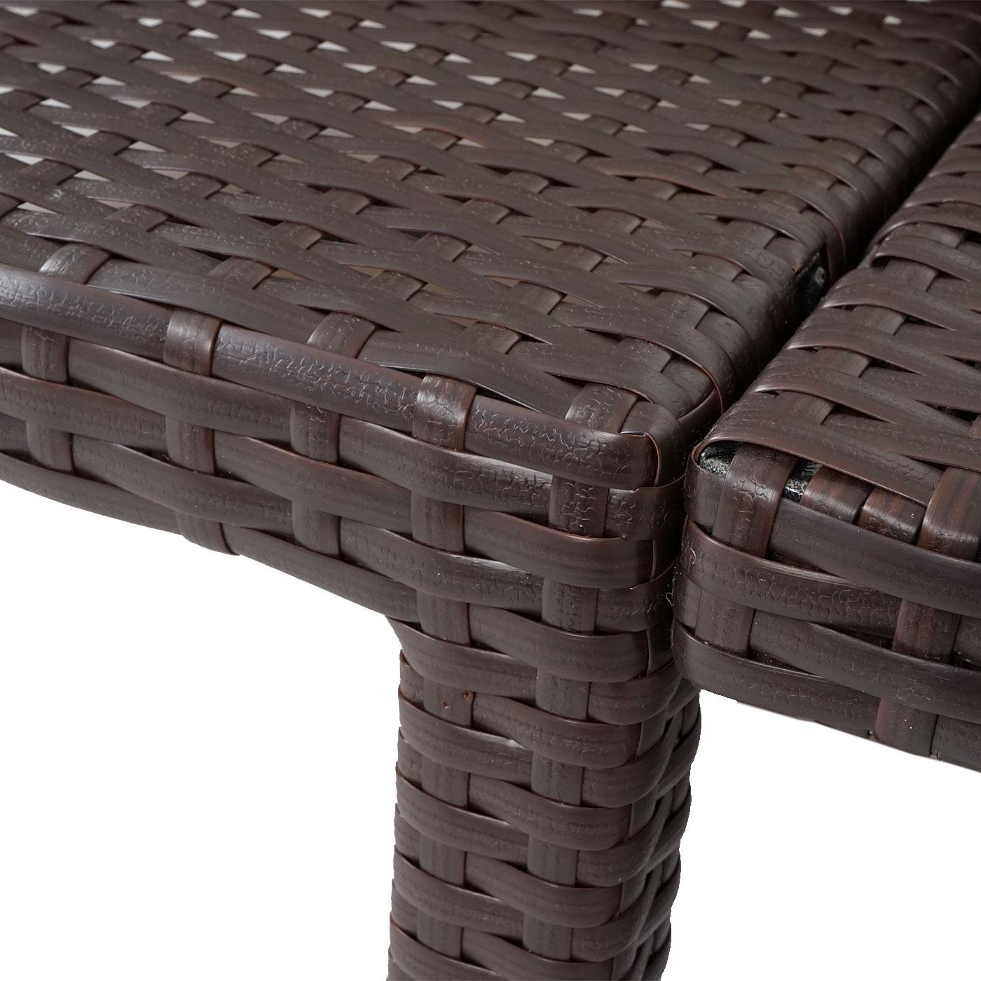 poly rattan sonnenliege hwc a51 relaxliege gartenliege liege premium braun kissen creme. Black Bedroom Furniture Sets. Home Design Ideas