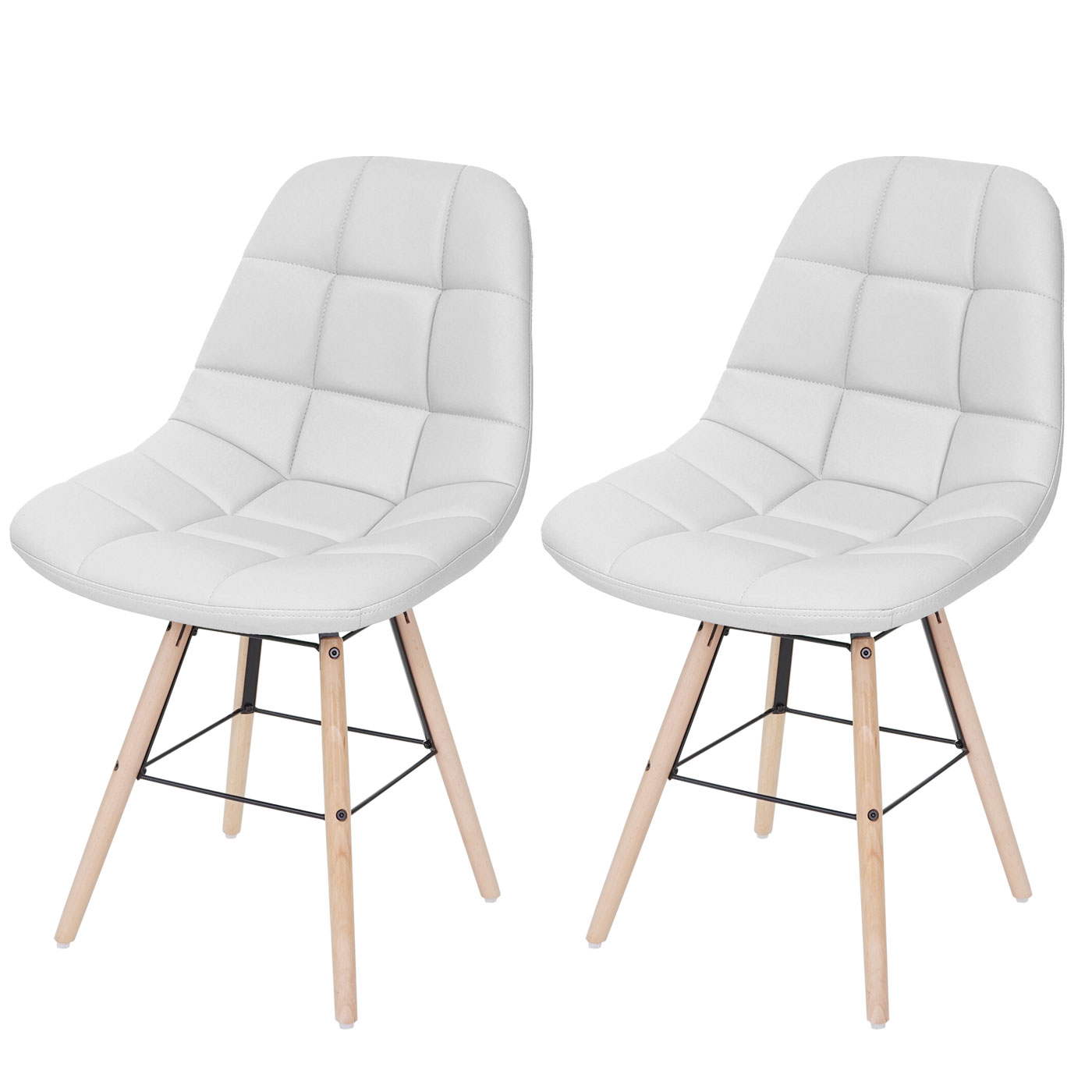 2x esszimmerstuhl hwc a60 ii stuhl lehnstuhl retro 50er jahre design kunstleder wei. Black Bedroom Furniture Sets. Home Design Ideas